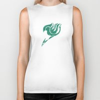 fairy tail Biker Tanks featuring Fairy Tail Segmented Logo Happy by JoshBeck