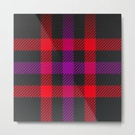 tartan purple red Metal Print