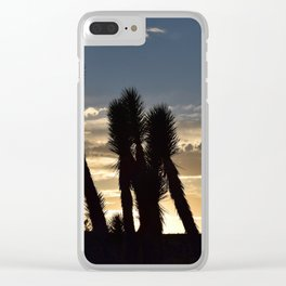 Desert Silhouettes Clear iPhone Case