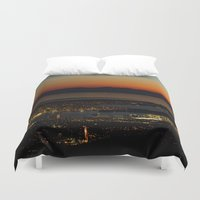 vancouver Duvet Covers featuring Vancouver at Sunset by Will Parker Photography
