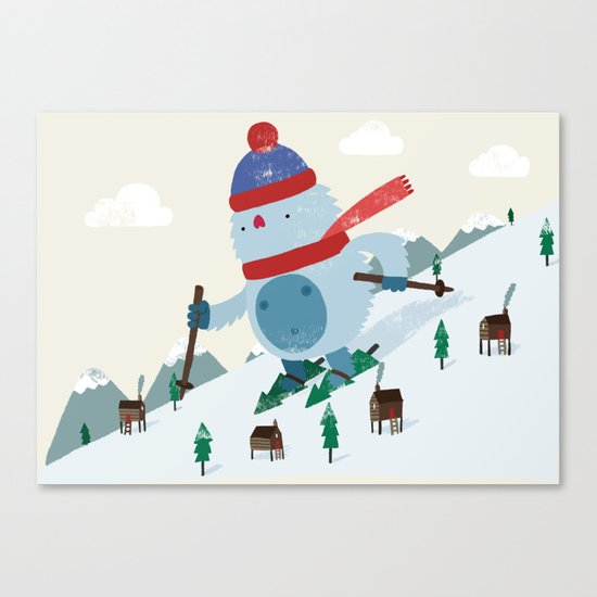 Beware the Yeti! Canvas Print