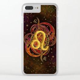 Leo Zodiac Fire element Clear iPhone Case