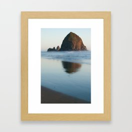 haystack rock - oregon Framed Art Print