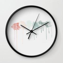 Through wet glass Wall Clock