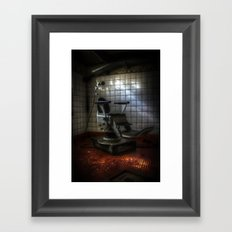 Dentist horror Framed Art Print