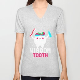 Dentist Kids Wisdom Tooth Brush Unisex V-Neck