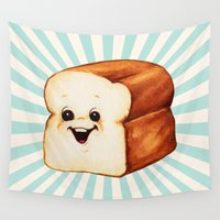 bread Wall Tapestries featuring Bread by Kelly Gilleran