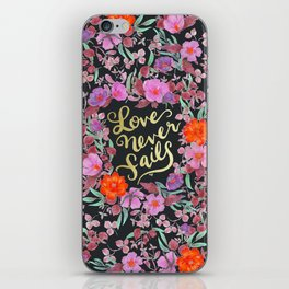 Love Never Fails -  1 Corinthians 13:8 iPhone Skin