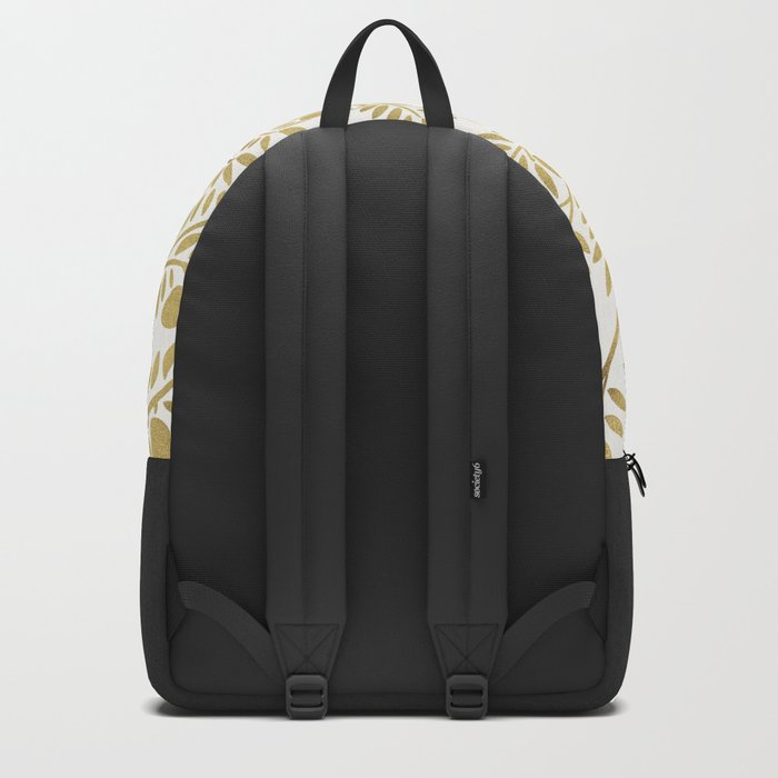 Gold Olive Branches Backpack