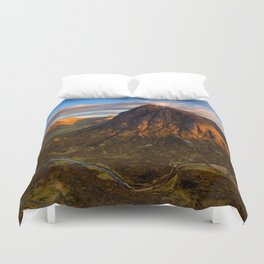 Brown Landscape Duvet Cover
