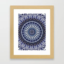 China Blue Framed Art Print