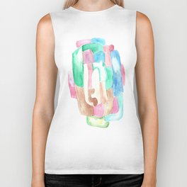 171013 Invaded Space 8|abstract shapes art design |abstract shapes art design colour Biker Tank
