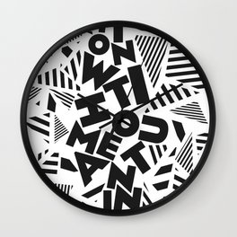 Action Without Meaning Wall Clock