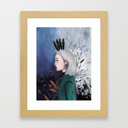 Feathers Framed Art Print