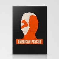 american psycho Stationery Cards featuring American Psycho by Bill Pyle