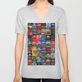 Tom Clancy Books Unisex V-Neck