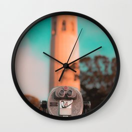 Coit Tower Telescope Wall Clock