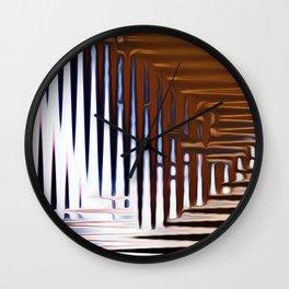 Bright Grid Wall Clock