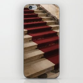 Stairs with red carpet iPhone Skin