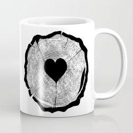 Heart Tree Rings Coffee Mug