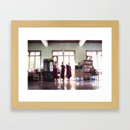 The Trio, plus one. Framed Art Print