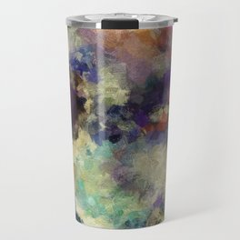 Contemporary Abstract Painting in Purple / Violet Color Travel Mug