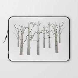 Birch Tree Forest White Bark Aspens Winter Laptop Sleeve