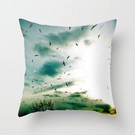 Descendants of Icarus Throw Pillow