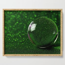 3D Crystal Glass Ball Sphere Ultra HD Serving Tray
