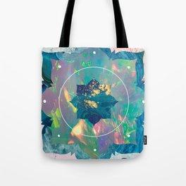 Psychedelic Crystal Lotus Tote Bag