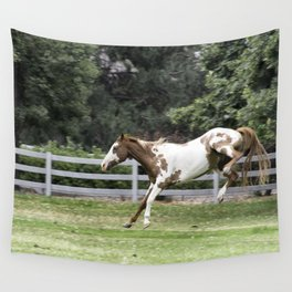 Pony jumping Wall Tapestry