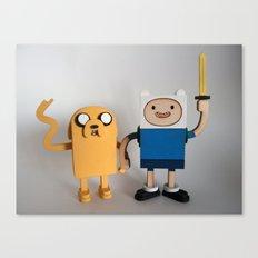 Wooden Toy Finn & Jake Canvas Print