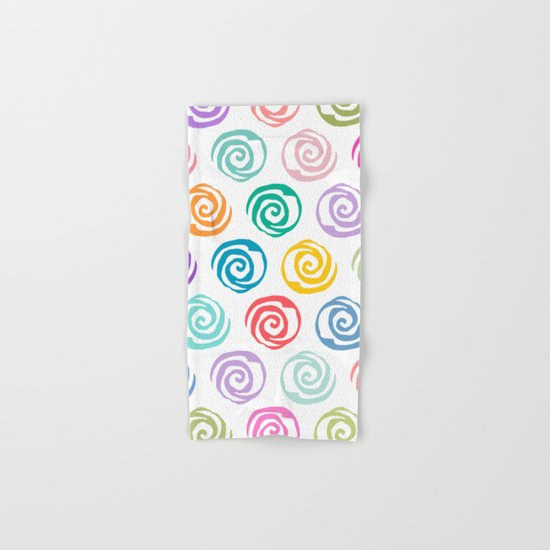 Circles Abstract Seamless Pattern Hand & Bath Towel