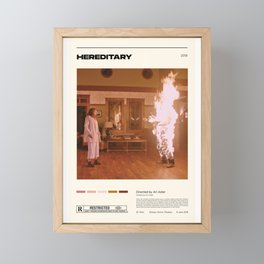 Hereditary,Ari Aster,Vintage Retro Art Print, Minimalist Movie Poster, Wall Art Framed Mini Art Print