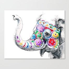 Festival Baby Elephant Canvas Print