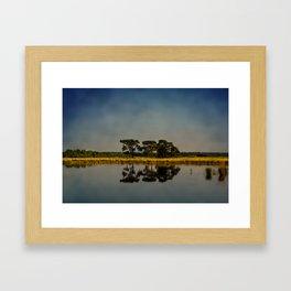 Summer evening sun Framed Art Print