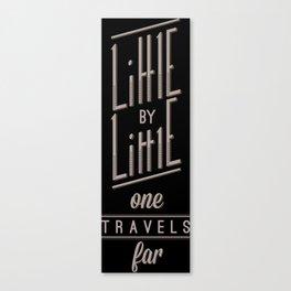 Little By Little Canvas Print