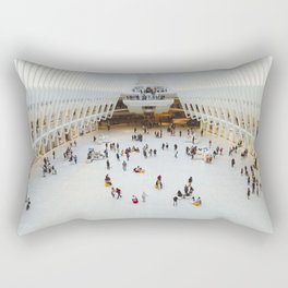 People in Oculus,  New York Rectangular Pillow