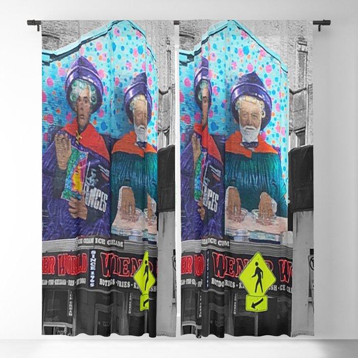 City Pop Art Style Blackout Curtain