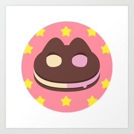 Cookie Cat! [textless] Art Print
