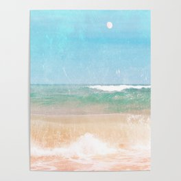 Sea and Moon Poster