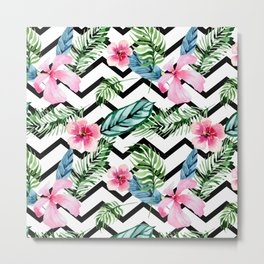 Tropical x Chevron x Islandlife Metal Print