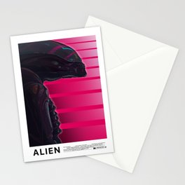 Neon ALIEN Stationery Cards