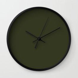 Greater Yellowleg ~ Seaweed Green Wall Clock