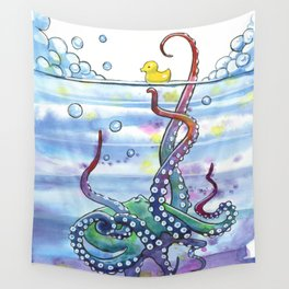 Bath Time Octopus Wall Tapestry
