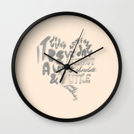 chocolate & self loathing Wall Clock