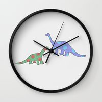 dinosaurs Wall Clocks featuring Dinosaurs by Mora