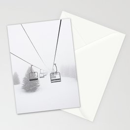 Ride to the white side - ski photography Stationery Cards