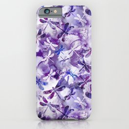 Dragonfly Lullaby in Pantone Ultraviolet Purple iPhone Case