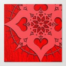 lianái intimate heart mandala Canvas Print